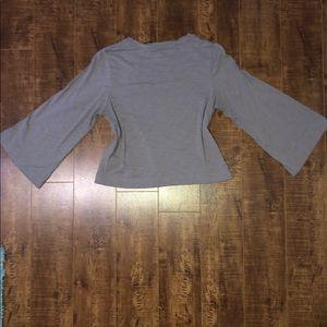 Rachel Zoe Gray Flared sleeves top